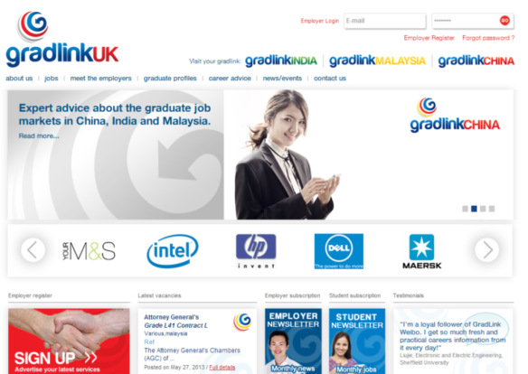 Gradlink screen